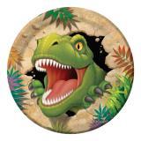 """Pappteller """"Gefährliche Dinosaurier"""" 8er Pack"""