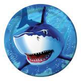 """Pappteller """"Gefährlicher Hai"""" 8er Pack"""