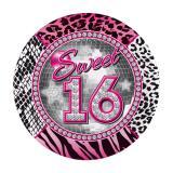 "Pappteller ""Girly Sweet Sixteen"" 8er Pack"