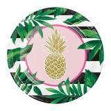 """Pappteller """"Goldene Ananas"""" 8er Pack"""