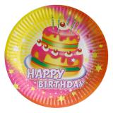 "Pappteller ""Happy Birthday Kuchen"" 8er Pack"