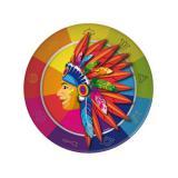 """Pappteller """"Indianer"""" 8er Pack"""