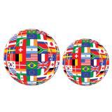 Pappteller Internationale Flaggen 8er Pack