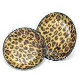 """Pappteller """"Leoparden-Look"""" 10er Pack"""