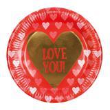 """Pappteller """"Love You"""" 6er Pack"""