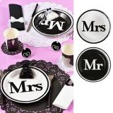 "Pappteller ""Mr & Mrs"" 10er Pack"