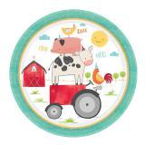 """Pappteller """"Niedliche Farm-Tiere"""" 8er Pack"""