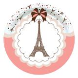 "Pappteller ""Paris je t'aime"" 8er Pack"