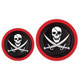 Pappteller Piratenschädel 8er Pack