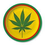 """Pappteller """"Reggae"""" 10er Pack"""