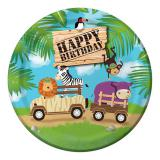 "Pappteller ""Safari Tour"" Happy Birthday 8er Pack"