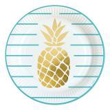"""Pappteller """"Sommerliche Ananas"""" 8er Pack"""