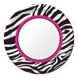 "Pappteller ""Stylischer Zebra-Look"" 8er Pack"