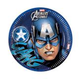 "Pappteller ""Ultimative Avengers - Captain America"" 8er Pack"