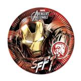 "Pappteller ""Ultimative Avengers - Iron Man"" 8er Pack"