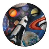 "Pappteller ""Space Shuttle und Planeten"" 8er Pack"