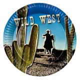 "Pappteller ""Wild West"" 6er Pack"