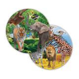 """Pappteller """"Wildes Safarileben"""" 8er Pack"""