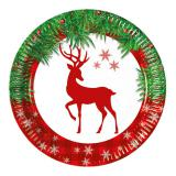 "Pappteller ""X-Mas Deer"" 8er Pack"