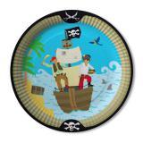 """Pappteller """"Aufregende Piratenreise"""" 8er Pack"""