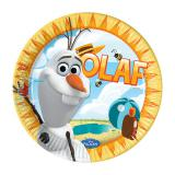 "Pappteller ""Olaf im Paradies"" 8er Pack"