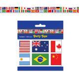 Party-Absperrband Internationale Flaggen 6 m