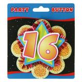"Party-Button ""16. Geburtstag"" 11 cm"