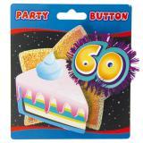 Party-Button 3D Sahneschnitte 60. Geburtstag 12 cm