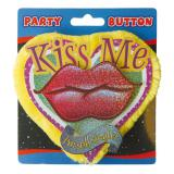 "Party-Button ""Kiss Me - I'm still single"""