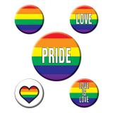 "Party-Buttons ""Love is Love"" 5er Pack"