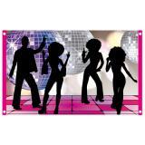 "Stoff-Banner ""Disco Night"" 150 x 90 cm"