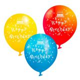 "Party-Luftballons ""Happy Birthday"" 6er Pack"