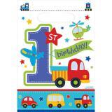 """Party-Tütchen """"1. Geburtstag für Jungs"""" 8er Pack"""