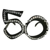 Partybrille 50. Geburtstag mit Glitzersteinchen