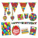 """Partypaket """"Happy Birthday Bunte Ballons"""" 59-tlg."""