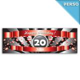 Personalisiertes PVC-Banner Happy Birthday Star 150 x 50 cm