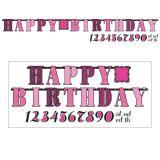"Personalisierbare Girlande ""Fabulous Birthday"" 30-tlg."
