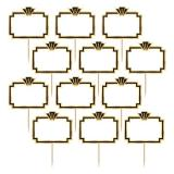 """Personalisierbare Party-Picker """"Golden Hollywood"""" 24er Pack"""