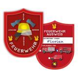 """Personalisierbarer Ausweis """"Spannende Feuerwehr"""" 6er Pack"""