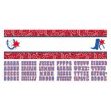 "Personalisierbares Banner ""Bandana und Jeans-Style"" 165 x 51 cm"