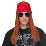 """Perücke """"Grunge Rocker"""" mit Bandana und Brille"""