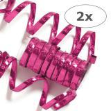 Pinke Glitzer Luftschlangen 2er Pack