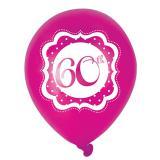 "Luftballons ""Pretty Pink"" 60. Geburtstag 6er Pack"