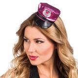 Pinke Polizei Mütze mit Haarreif