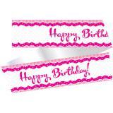 """Tortenband """"Pretty Pink"""" 100 cm"""