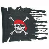 Wettergegerbte Piratenflagge 102 cm