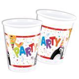 """Plastikbecher """"Tierischer Partyspaß"""" 8er Pack"""