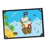 """Platzset """"Aufregende Piratenreise"""" 6er Pack"""