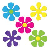 Raumdeko Flower-Power 5er Pack