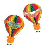 Raumdeko Happy Birthday-Heißluftballon aus Wabenpapier 34 cm